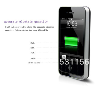 Hot&New External battery flip case charger for iphone4&iphone 4s free shipping
