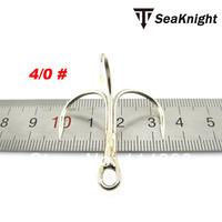 Seaknight 4/0#  white carbon treble fishing hooks high quality triple three hook   20pcs/lot