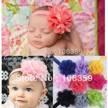 Baby Girl Headband Flower Elastic Toddler Headband Newborn Infant Photo Prop Hairbands 20pc HYS02