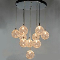 Aluminium Wire Ball Shade Pendant Lamp Chandelier 10 Light Source