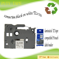12mmX8m TZ-231,TZe231 For TZ tape TZ231 (TZ-231) Compatible P-Touch Tape PT-1000 label maker