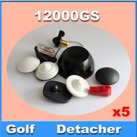 Black color universal detacher Security tag remover,  golf detacher, eas hard tag detacher magnetic intensity 12, 000gs 5pcs/lot