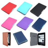 Wholesale Multicolor Slim Magnetic Folio Auto Sleep Leather Case Wake Sleep Smart Cover For Kindle Paperwhite 6 inch eReader