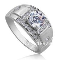 Gentleman Ring 18K Gold 1.6 Carat Lab Grown Moissanite Diamonds Ring for Men Real Diamonds Ring Wedding Engagement Ring Set