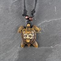 12pcs Free Shipping Indian Jewelry Bone Necklace Classic Unisex Style Pendant Sea Turtles N0156