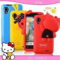 Free shopping for Lenovo P770 mobile phone case for lenovo P770 protective case cell silica gel set