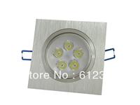 Free shipping 50pcs/lot 5w Square LED Ceiling Lamp Pure/Warm White led Downlight Spot Lighting
