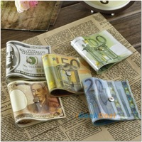 Geek Money Door Stopper 1pc Creative European Dollar Bill Style PVC Door Stops Home Decorative Doorstops