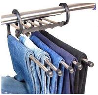 2014 new magic retractable hanger stainless steel multifunctional hanging pants rack metal multi-layer rack free shipping