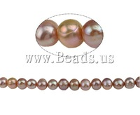 Free shipping!!!Baroque Cultured Freshwater Pearl Beads,Wedding Jewelry, 10-11mm, Length:15 Inch, Sold Per 15 Inch
