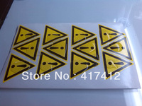 50mm Triangle  warning the exclamation mark warning signs mechanical safety labels