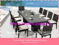 modern wicker rattan dining room set SCTC-074
