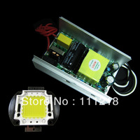 100W LED Driver AC Power Supply Non-waterproof with Heat Sink  & 100 Watt High Power cool white LED Lamp Light 85-265V