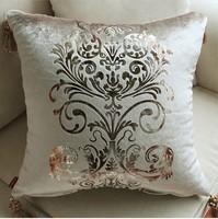 #702  NEW Luxury strip-line paragraph color velvet pillow cover cushion cover multicolor