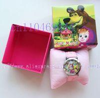 12pcs masha and the bear Cartoon Child  clock watch Wristwatches  Free Shipping