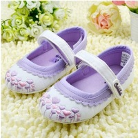 Free shipping!Hot!spring purple girls baby toddler shoes infant shoes first walkers footwear.3 pairs/lot