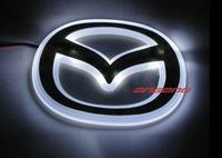 Free shipping Mazda M6 10.5CM * 8.2CM  PVC LED  Tail Lights / Car Emblem Light /  Car LED Logo Light