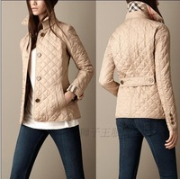 Hot Classic New 2013 Women Fashion Brand Short Style Spring/Autumn CottonPadded /Designer Slim Outerwear/Mini Coat  B19010 M-XXL
