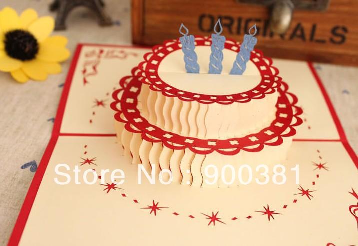 Объемные открытки торт своими руками