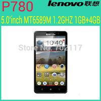original Lenovo P780 phone MTK6589 quad core 1.2GHz 4000mAh 1GB/4GB 1280X720 Camera 8.0MP 3G Smart phone Android4.1 Russian