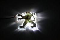Free shipping Peugeot 206 207 7.97CM*7.51CM  PVC LED  Tail Lights / Car Emblem Light /  Car LED Logo Light