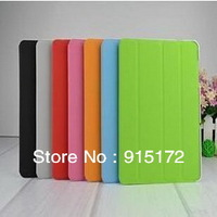 1Piece Newest Smart Cover Folding Leather Case For Samsung Galaxy GT P7510 / 7500 For Samsung Tab 10.1 Utra Thin Mini Case(ST01)