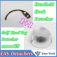 Universal Golf Hard Tag Detacher 12000GS Tag Remover  + 1 pcs Handheld EAS Hard Tag  Hook Detacher