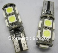 Free shipping Car W5W showing the wide lights T10 9SMD small light ice blue with decoding error prevention