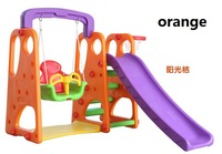 High quality Indoor Playground Equipment Baby Swing Kids Slides Outdoor garden Equipment Children Kids Swing Slippery Slides Set