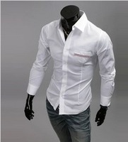 Free shipping the new 2013 spring striped ribbon match men's cultivate one's morality leisure long-sleeved shirts