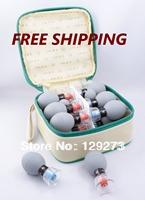FREE SHIPPING!Promotion Retail  HACI Magnetic Suction Cupping Set - 18 Cups,HACI Wu Xing Zhen (Classic 18 Cups)