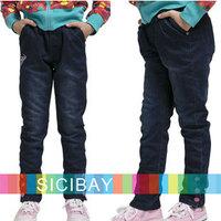 Free Shipping 2014 Autumn Jeans Kids Spring Clothing New Retail Denim Blue Pants,Elasticized Trousers,Fashion Wear  K2203