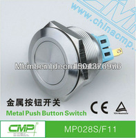 Free shipping 28mm ip67 Waterproof Anti-Vandle momentary ON/OFF Metal Push button switch ,12V