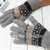 Hot Sale ,Free shipping,men's Knitted Gloves lovely winter pure manual weaving upset warm fashion Gloves,5 colors A301