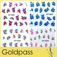 10 X water transfer nail sticker Decal Flower designs Stickers Nail Art Decoration Dropshipping