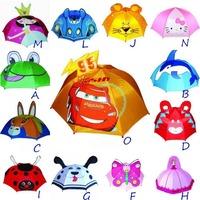 Free shipping 7 pcs/lot - Cute!!! kids umbrella cartoon solid shape umbrellas children /tots lovely cartoon umbrella