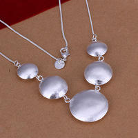 Free Shipping!Wholesale 925 Silver Necklace & Pendant,925 Silver Fashion Jewelry,Sand Round Cow Necklace SMTN088