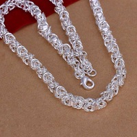 Free Shipping!Wholesale 925 Silver Necklace & Pendant,925 Silver Fashion Jewelry,Dragonfly Clasp Necklace SMTN061