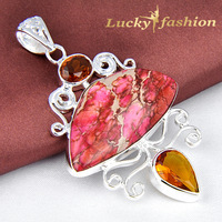 Fascinating Unique Charm Genuine IMPERIAL TAPER 925 Silver Necklace Pendant Free Shipping  P0972
