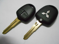 2 button straight remote car key blank shell fob case Free shipping High quality for Mitsubishi Grandis