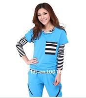 Free shipping Lady 's Sportswear  fashion design pullover hoodies 3pcs set for women FDFZ-1309