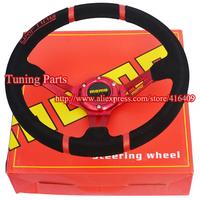 Universal Red Arms MOMO Drifting Car Steering Wheel