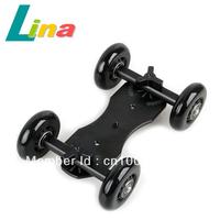 TableTop Compact Dolly Kit Skater Slider wheel Camera Car Truck Stabilizer For DSLR Camera Camcorder