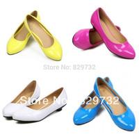 Free shipping Fashion white flat single shoes women's genuine leather flat heel four seasons shoes