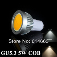 Free shipping hot sales GU5.3 5W LED COB Spot Light Bulbs Warm White/Cool White High Brightness Wholesale