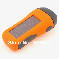Solar MIni LED Flashlights Torch Hand-cranked Dynamo Emergency Rechargeable Camping Pocket Lamp Phone Manual Charger