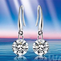 M80701 Wholesale 925 Pure Silver Drop Earring Free Shipping