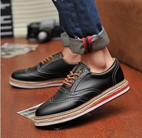 Fashion platform shoes male board shoes fashion all-match flat casual man's shoes size39-44