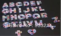 Wholesale 130pcs 8mm Mix Color A-Z Colored Slide letters Charm DIY Accessories fit pet collar