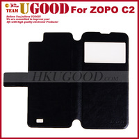 New Arrival High Quality Commercial and Fashion Design Flip Pu Leather Case Flip Case for  Zopo C2 In stock Free Ship!